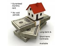 Guaranteed Rent for your Property - Hassle free for our Landlords