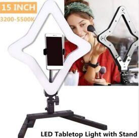 15 INCH Table Top Star Ring Light For Selfie, Make Up, Live Stream, Youtube/Vlog Video