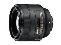 Almost Brand new Nikon Nikkor AF-S 85mm F/1.8 AF-S Lens