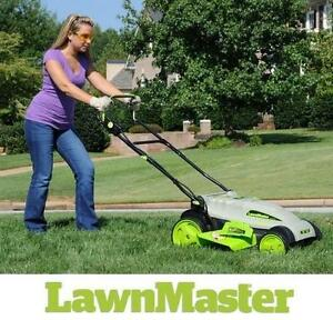 "NEW* LAWNMASTER 18"" 36V LAWN MOWER - 124291575 - CORDLESS YARD LAWN GRASS CUTTER"
