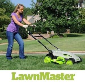 "USED LAWNMASTER 18"" 36V LAWN MOWER MCAC3618M 199583946 CORDLESS YARD LAWN GRASS CUTTER LAWN MOWER ELECTRIC PUSH BEHIN..."