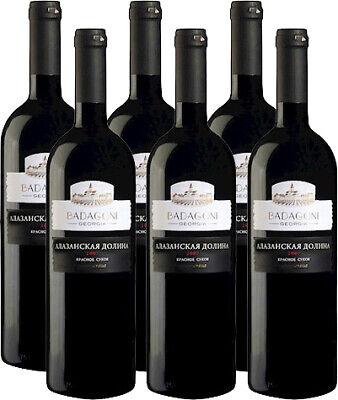 Badagoni Alazani Valley Rotwein aus Georgien lieblich 6x0,75L 12% vol Алазанская