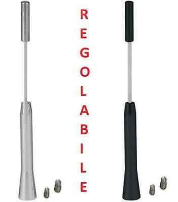 Antenna universale per auto,in alluminio!Regolabile,con 2 adattatori.Retraibile!