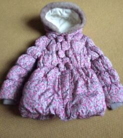 Girls Floral Winter Coat - Age 3-4 Years!!! Gorgeous