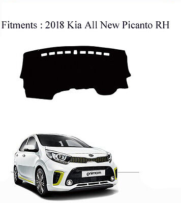 Dash Mat Cover Black Color for 2018 All New KIA Picanto RH Drive