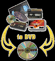 Transfer video: VHS, mini-DV, …, 8mm film sur DVD