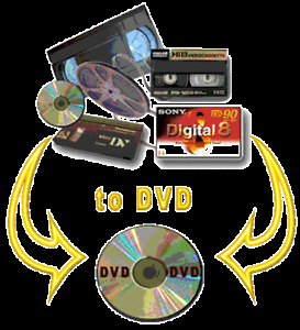 Transfer of video: VHS Mini-DV,… , 8mm film sur DVD