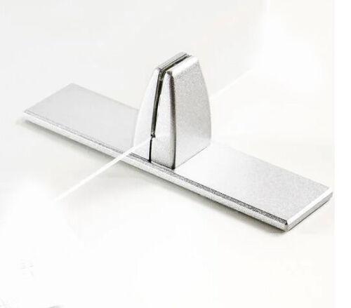 Sneeze Guard Aluminum Support Clamp Bracket w/ Freestanding Base for Plexiglass