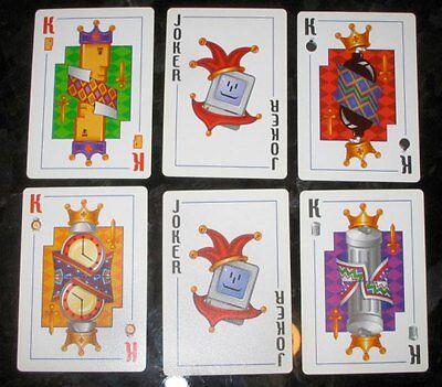 RARE VINTAGE APPLE COMPUTER c1990s MACINTOSH ICON PLAYING CARDS - SEALED