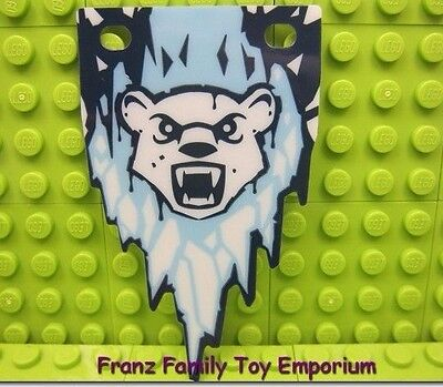 New LEGO Flag 5x8 Plastic Banner Chima Bear Minifigure Blue and White Part Piece