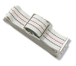 NEW-Medline-Patient-Transfer-Gait-Belt-Cotton-Walk-Assist-60-Pinstripe-w-buckl