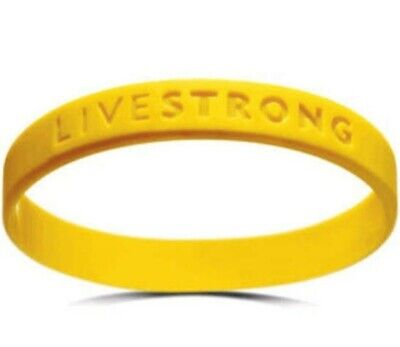 Livestrong Nike Authentic Bracelet Yellow Youth Size Silicone Wristband 2-pack