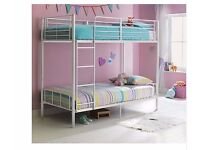 Maddison Single Bunk Bed Frame White 59.