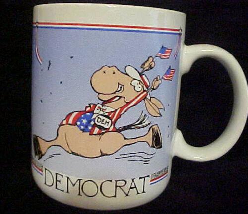 Vintage Hallmark 1988 Democrat Donkey Mug - Made in Japan