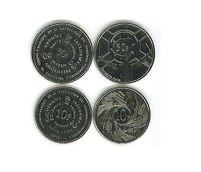 BURUNDI: 4 PIECE UNCIRCULATED COIN SET, 1TO 50 FRANCS ()