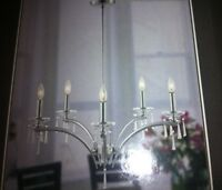 5 light Chrome chandelier new in box      Watch     |     Share