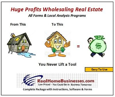 Real Estate Wholesale Flipping Software, Forms & Know-How