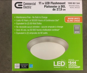 "Commercial Electric 11"" LED Flushmount Light"