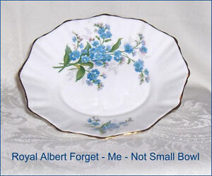 Royal Albert Forget-Me-Not Vintage Bone China Small Serving Dish