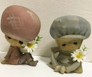 Two Mid Century Collectable  Genin Trudeau ceramic dolls/statues