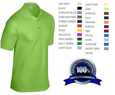 10 Custom Embroidered * FREE LOGO Dry Blend POLO SHIRTS Embroidery Personalized