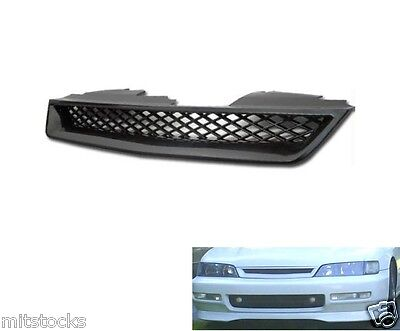 - 94 95 96 97 HONDA ACCORD TYPE-R ABS BLACK FRONT HOOD MESH GRILL GRILLE 1994-1997