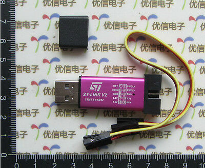 Dz360 St-link V2 Mini Metal Shell Stm8 Stm32 Artificial Device Programmer 1pcs