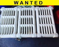 Hot Water Radiators * Wall Mounted with 3-sections