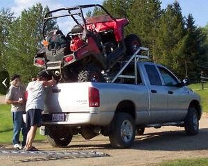 Aluminum In-Box/Over-Cab Quad ATV & UTV Riser Unit