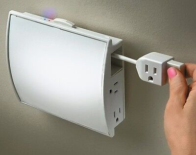 XTENDACORD New 6 Outlets w one 6ft extension cord, surge,circuit breaker.