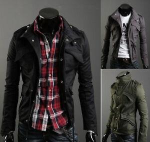 Men-Casual-Top-Designed-Slim-Fit-Zip-Jacket-Coat-3color-M-L-XL-XXL-E213