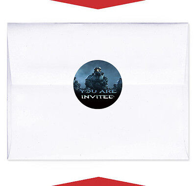 24 Halo Birthday Party Favors Personalized Envelope Seals