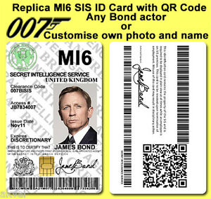 James-Bond-007-MI6-SIS-Spectre-inspired-PVC-ID-Card-with-PHYSICAL-4428-IC-CHIP