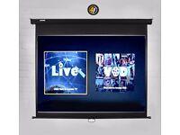 Cirrus4k MPS80 16:9 Manual Pull Down HD Home Theatre Projector Screen
