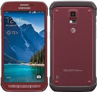 Samsung Galaxy S5 active G870A 16GB RED COLOR  AT&T&unlocked