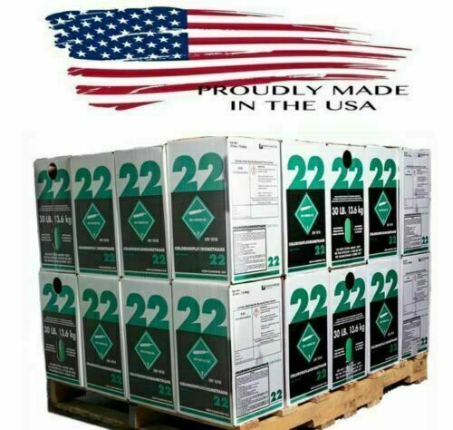 30 lb.New R-22 Virgin Refrigerant FACTORY SEALED FREE SAME DAY SHIPPING