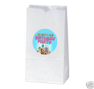 Candyland Baby Shower (12 Candy Land Birthday Party Favors Personalized Treat Bag)