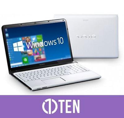Sony VAIO SVE 15 Intel i3 2.40GHz 4GB RAM 750GB White Gaming Laptop Notebook