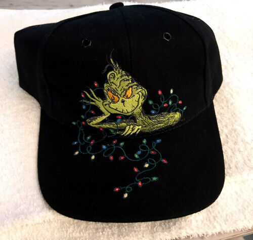 DR SEUSS THE GRINCH CRUSHED VELVET CAP HAT NEW W TAG ADJUSTABLE BEAUTIFUL