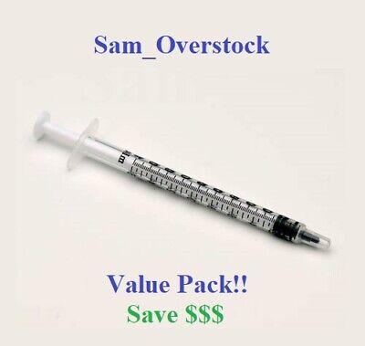 1cc Tuberculin Luer Slip Syringes 1ml Sterile New Syringe Only No Needle