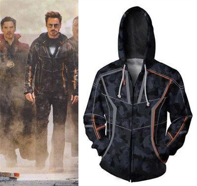 Iron Man Hoodies The Avengers 3 Infinity War Sweatshirt Jacket Cosplay Costume (Iron Man Costums)