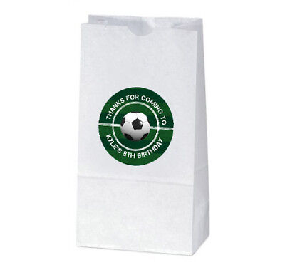 12 Soccer Ball Sports Theme Birthday Party Personalized Treat Bag - Soccer Themed Birthday Party