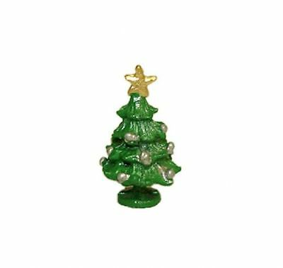 Dollhouse Miniature Tiny Tabletop Christmas Tree Handpainted for 1:12 Scale ()