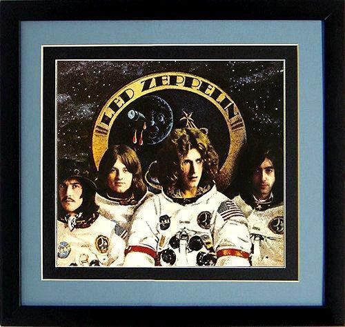 Led Zeppelin Astronauts Poster Framed