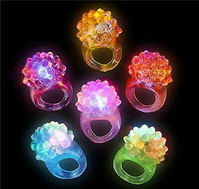 72 PCS Blinky Rings Flashing LED Bumpy Ring Party Favor for Dances Costumes HOT