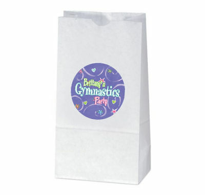 Gymnastic Party Favors (12 Gymnastics Birthday Party Favors Personalized Treat bag)