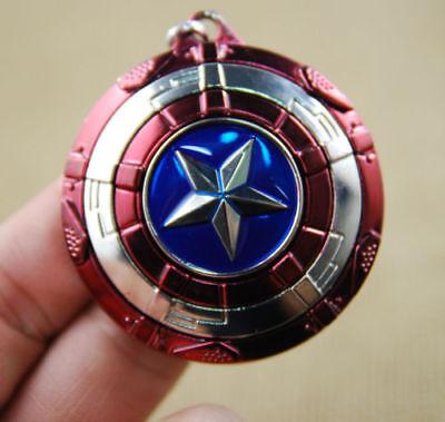 Star Keychain -  Captain America Shield Cosplay Keyring Rotatable Star Alloy Keychain US Seller