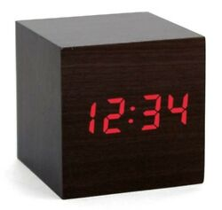 NEW KIKKERLAND CLAP ON BLACK CUBE DIGITAL ALARM CLOCK