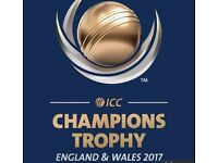 India vs Pakistan ICC Champions Trophy Sunday 4th June - 5 seating together for sale