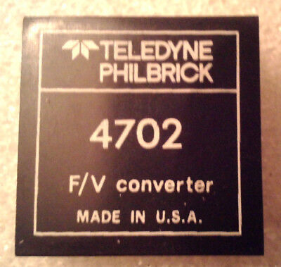 Teledyne Philbrick 4702 Frequency to Voltage Converter  :: FREE Shipping Frequency Voltage Converter